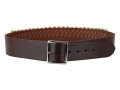 "Hunter Cartridge Belt 2"" 45 Caliber 25 Loops Leather Antique Brown Large"