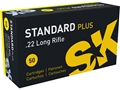 SK Standard Plus Ammunition 22 Long Rifle 40 Grain Lead Round Nose Box of 500 (10 Boxes of 50)