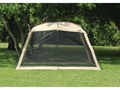 Texsport Wayford Screen Arbor Polyester Almond Buff and Chocolate Brown