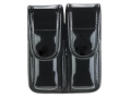Bianchi 7902 AccuMold Elite Double Magazine Pouch Single Stack 9mm, 45 ACP Hidden Snap Trilaminate High-Gloss Black