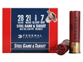 Federal Game &amp; Target Ammunition 28 Gauge 2-3/4&quot; 5/8 oz #7 Non-Toxic Steel Shot Box of 25