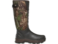 """LaCrosse 3.5mm 4XAlpha Snake Proof 16"""" Waterproof Uninsulated Hunting Boots Hand-Laid Preium Rubber Over Neoprene Realtree Xtra Green Camo Men's"""