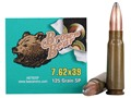 Brown Bear Ammunition 7.62x39mm 125 Grain Soft Point (Bi-Metal) Box of 20