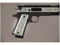 Hogue Extreme Series Grips 1911 Government, Commander Ambidextrous Safety Cut Flames Aluminum Clear