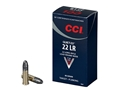CCI Quiet Ammunition 22 Long Rifle 40 Grain Lead Round Nose Box of 500 (10 Boxes of 50)