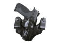 DeSantis Mad Max Tuckable Inside the Waistband Holster Right Hand Smith & Wesson M&P 9, 40 Leather Black