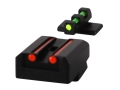 Williams Fire Sight Set 1911 Taurus Fiber Optic Green Front, Red Rear Steel Blue
