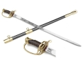 "Collector's Armoury Replica Civil War ""Shelby"" Confederate Cavalry Officer's Sword 33"" Carbon Steel Blade Black Steel Scabbard"