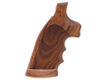 Hogue Fancy Hardwood Grips with Accent Stripe, Finger Grooves and Contrasting Butt Cap S&amp;W K, L-Frame Square Butt Checkered Pau Ferro