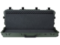 "Pelican Storm 3200 Scoped Rifle Gun Case with Solid Foam Insert and Wheels 44"" Polymer Olive Drab"