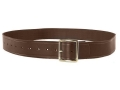 "Oklahoma Leather Strap Leather Holster Belt 1-3/4"" Brass Buckle Leather Brown 30"" to 46"""