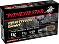 Winchester Supreme Ammunition 12 Gauge 2-3/4&quot; 385 Grain Partition Gold Sabot Slug Box of 5