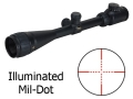 BSA Contender Mil-Dot Target Rifle Scope 6-24x 40mm Adjustable Objective Illuminated Mil-Dot Reticle Matte