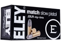 Eley Match Pistol Ammunition 22 Long Rifle 40 Grain Lead Round Nose Box of 500 (10 Boxes of 50)