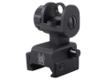 GG&G Spring-Actuated Flip-Up Rear Sight AR-15 with XS Sights Same-Plane Aperture Aluminum Matte