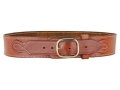 Ross Leather Classic Cartridge Belt 45 Caliber Leather Tan 38""