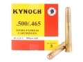 Product detail of Kynoch Ammunition 500-465 Nitro Express 480 Grain Woodleigh Welded Core Solid Box of 5