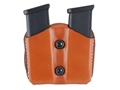 DeSantis Double Magazine Pouch Glock 17, 19, 22, 23 Leather Tan