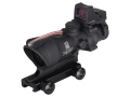 Product detail of Trijicon ACOG TA31-RMR BAC Rifle Scope 4x 32mm Dual-Illuminated Crosshair 223 Remington Reticle with 3.25 MOA RMR Red Dot Sight and TA51 Flattop Mount Matte