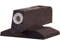 Kensight Front Night Sight 1911 Novak Cut Contoured Base .180&quot; Height .115&quot; Width Steel Black with Green Tritium Dot