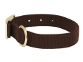 "Mud River Scout Adjustable Buckle Dog Collar XL 22""-26"" Nylon Brown"