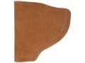"Bianchi 6 Inside the Waistband Holster Right Hand Colt Python, Ruger GP100, S&W K, L-Frame 3"" Barrel Suede Leather Natural"