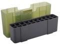 Plano Ammo Box 25-06 Remington, 280 Remington, 30-06 Springfield 20-Round Plastic Olive Drab and Clear Green