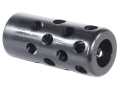 Gentry Quiet Muzzle Brake 458 Caliber 5/8&quot;-28 Thread .875&quot; Outside Diameter x 1.94&quot; Length Chrome Moly Matte