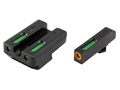 TRUGLO TFX Pro Sight Set Walther P99, PPQ Tritium / Fiber Optic Green with Orange Front Dot Outline
