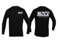 RNT Men's Logo T-Shirt Long Sleeve Cotton Black 2XL