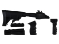 "Advanced Technology Ultimate Professional ""Plus"" Strikeforce 6-Position Collapsible Side Folding Stock Set with Aluminum Upgrade, Scorpion Recoil System, Handguard, VFG & Pistol Grip AK-47 Black"