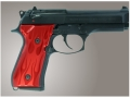Hogue Extreme Series Grip Beretta 92F, 92FS, 92SB, 96, M9 Flames Aluminum Red