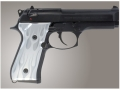 Product detail of Hogue Extreme Series Grip Beretta 92F, 92FS, 92SB, 96, M9 Flames Aluminum Clear