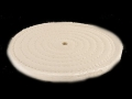 Formax 8&quot; Diameter 1/2&quot; Thick Spiral Sewn Cotton Buffing and Polishing Wheel With 1/2&quot; Arbor Hole