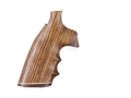 Hogue Fancy Hardwood Grips with Accent Stripe, Finger Grooves and Contrasting Butt Cap Colt Diamondback Cocobolo