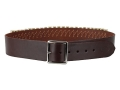 "Hunter Cartridge Belt 2"" 38 Caliber 25 Loops Leather Antique Brown Large"