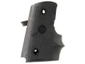 Hogue Wraparound Rubber Grips with Finger Grooves Para-Ordnance P10 Black