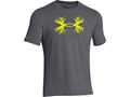 Under Armour Men's UA Antler T-Shirt Short Sleeve Cotton and Polyester Blend Carbon Heather Large 42-44