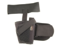 "Uncle Mike's Ankle Holster Medium, Large Frame Semi-Automatic 3.25"" to 3.75"" Barrel Nylon Black"