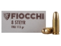 Fiocchi Ammunition 8mm Roth-Steyr 113 Grain Full Metal Jacket Box of 50