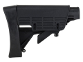 Advanced Technology Strikeforce Collapsible Stock with Cheekrest &amp; Scorpion Recoil Pad Commercial Diameter AR-15, LR-308 Carbine Polymer Black