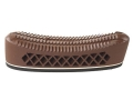 "Pachmayr T550 Deluxe Trap Recoil Pad 1.1"" Medium Pigeon Face Brown with White Line"