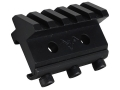 DoubleStar Angle Mount Offset Picatinny Accessory Rail 5-Slot Aluminum Black