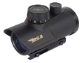 "BSA Huntsman Red Dot Sight 1x 30mm 5 MOA Red, Green and Blue Dot Plex Reticle with Integral 3/8"" and Weaver-Style Mount Matte"