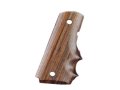 Hogue Grips with Finger Grooves 1911 Officer Cocobolo