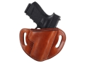 El Paso Saddlery #88 Street Combat Outside the Waistband Holster Right Hand Glock 19, 23, 32 Leather Russet Brown