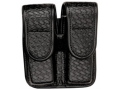 Product detail of Bianchi 7902 AccuMold Elite Double Magazine Pouch Double Stack 45 ACP Hidden Snap Basketweave Trilaminate Black