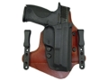 Comp-Tac Minotaur Neutral Cant Inside the Waistband Holster Right Hand Glock 26, 27, 28, 33 Kydex and Leather Black/Tan