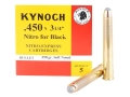 Kynoch Ammunition 450 Black Powder Express 3-1/4&quot; 350 Grain Woodleigh Welded Core Soft Point Box of 5