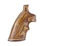 Hogue Fancy Hardwood Grips with Accent Stripe and Top Finger Groove Ruger Speed Six Cocobolo
